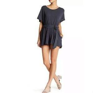 Free People Carbon Easy Street Wrapped Romper XS